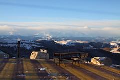-    (Sergey Kustov) Tags:                caucasus mountain pass gumbashi terrace cafe winter snow sun sky viewpoint scenery clouds