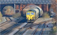 66603. Approaching Burton ............. (Alan Burkwood) Tags: burtonontrent freightliner 66603 hopewalsall freight diesel locomotive