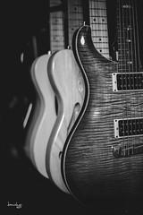 Lined Up (Daniel Y. Go) Tags: fuji fujixpro2 xpro2 philippines guitars mono bw music