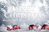 Merry Christmas! (GlimpseofHeavengirl) Tags: merrychristmas ornaments white ball snow backgrounds decoration xmas closeup holiday season nobody jolly new concept life bright celebrate festive celebration light christmas card traditional sphere decorate round decorative shiny still winter merry december bauble bokeh year snowflake horizontal blue copy space fir branch ice pine tree china