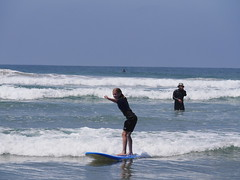 Surf Lessons (ssilberman) Tags: ocean california beach kids dad july surfing learning huntingtonbeach 2013
