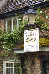 Established MCMXCII (Pic_Joy) Tags: old uk travel england holiday building lamp stone architecture facade europe tour village united cottage kingdom bakery british leisure 1992 tradition churchstreet wiltshire   attraction attractions lacock                mcmxcii  lacockbakery