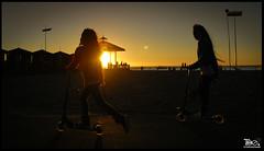 RollinG (Are you Nobody too?) Tags: chile park sunset sol beach sunshine atardecer playa scooter littlegirl rolling iquique littlegirls cavancha playacavancha cavanchabeach