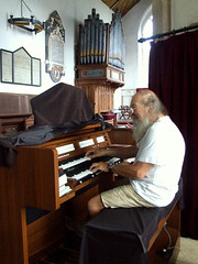 Geoff and Organ (dkhlucy) Tags: history church architecture norfolk organ christianty geoffrobinson wiggenhallmagdalenstmarys thethreechurchseries