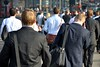 Walking Suits (A-Lister Photography) Tags: road street city uk morning england sun sunlight mist bus london smart horizontal businessman sunrise buildings londonbridge walking landscape dawn early workers suits cityscape employment pavement walk candid crowd group earlymorning citylife streetphotography sunny business sidewalk walker rush mobilephone pedestrians commuting rushhour innercity sunlit publictransport financial walkers economy offices commuters reallife cityoflondon finance londonbus businessmen businesspeople londontransport redbus officeworkers worklife realpeople cityworkers officeclothes smartclothes adamlister nikond5100 alisterphotography