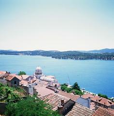 ibenik, Croatia (ChihPing) Tags: travel blue 120 6x6 film mediumformat iso100 fuji kodak croatia slide 66 fujifilm sibenik  e100g  ibenik         gf670