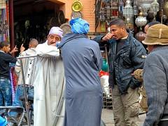 News (TresMariasinPie) Tags: street men deal marrakech talking marokko streetview strasenszene canonpowershotg12