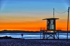 tower44_HDR (Matthew Jara) Tags: ocean california sunset beach island catalina waves newportbeach orangecounty hdr lifeguardtower 44thstreet