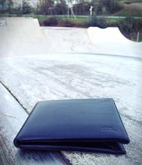 wallet in a skatepark (MellonKreft) Tags: original leather slim wallet unique minimalistic mellon leatherwallet uploaded:by=flickrmobile flickriosapp:filter=nofilter