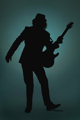 Turquoise (Pennan_Brae) Tags: musician silhouette