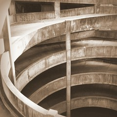 Spiraling (edit). (Joseph Skompski) Tags: city urban architecture concrete parkinggarage pennsylvania garage harrisburg harrisburgpa thechallengefactory