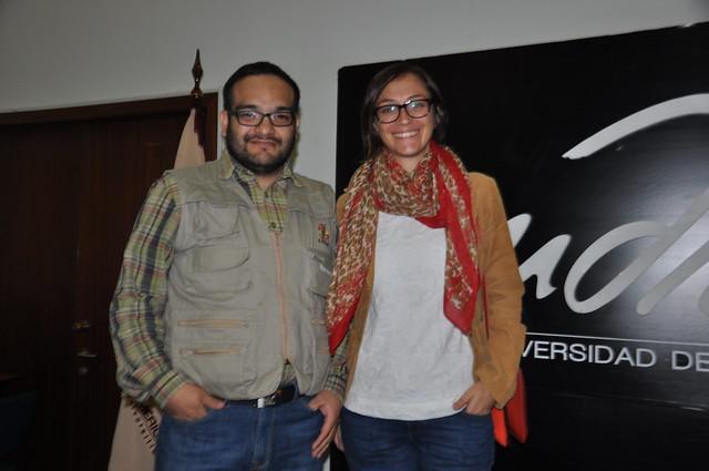 Jorge Imbaquingo y Sonia Aguilar de ACNUR.