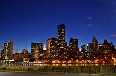 Night Views from Roosevelt Island (gigi_nyc) Tags: nyc newyorkcity night manhattan eastriver nightshots queensborobridge rooseveltisland