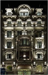 Barcelona 2013 - Hotel Montecarlo (kurtwolf303) Tags: barcelona architecture hotel spain nikon coolpix architektur nightview spanien nachtaufnahme s8200