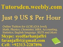 online tuition, online tutoring, tutor assignment help, home work help, karachi, lahore, skype, private lessons