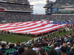 "Military and Flag at Eagles - Redskins game • <a style=""font-size:0.8em;"" href=""http://www.flickr.com/photos/23560286@N02/10988329866/"" target=""_blank"">View on Flickr</a>"