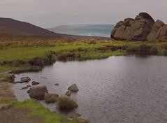 Doxeys Pool (Dazzygidds) Tags: legends staffordshire peakdistrictnationalpark theroaches staffordshiremoorlands mountainpool moorlandpool doxeyspool gritstoneboulders beautifulrockshapes