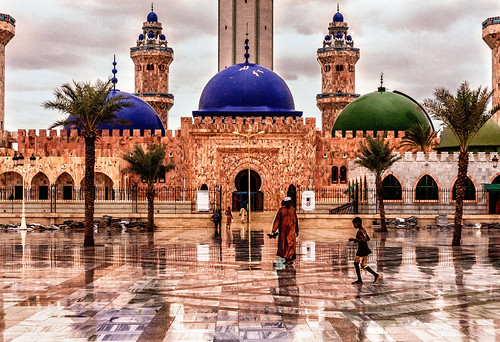 Grand Mosque of Touba, Senegal, a detail