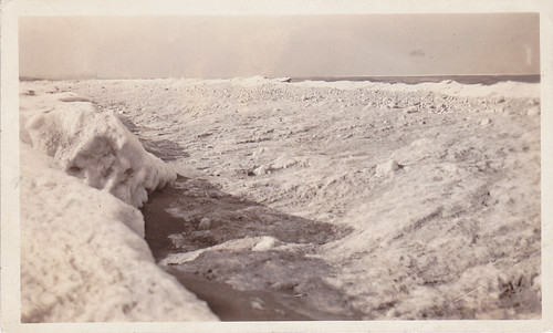 Ice along the Lake Michigan lakefront at Miller Beach Indiana 1922