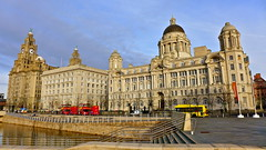 The Three Graces - Liverpool (MickyFlick) Tags: history tourism architecture liverpool pier waterfront harbour head tourists architectural historic threegraces historical touristattraction royalliverbuilding 3graces rivermersey tourbuses cunardbuilding mickyflick themerseydocksandharbourboardoffices