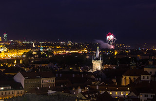 Fireworks in Prague