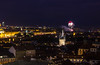 Fireworks in Prague (Vagelis Pikoulas) Tags: old autumn houses light sky house colour castle canon landscape eos town europe view prague praha 1855mm x4 2013 550d abigfave colorphotoaward ringexcellence