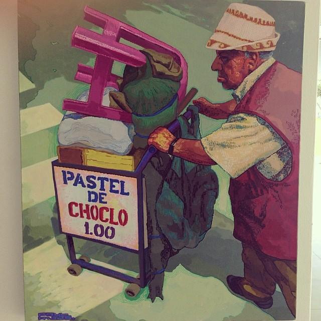 """""""Pastel de choclo"""" de Paul Rojas Salinas $900 • Bazarte #bazarte #arteenlima #artinlima #arte #art #artist #artista #pintura #painting"""