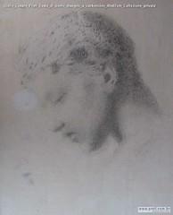Giulio Cesare Prati Testa di uomo disegno a carboncino 40x67cm Collezione privata