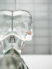 Glass Man (wwarby) Tags: trip sculpture slr london art glass statue museum head olympus science indoors event digitalcamera e3 zuiko digitalslr humanoid dayout 50mmmacro zuikodigital thesciencemuseum olympuse3