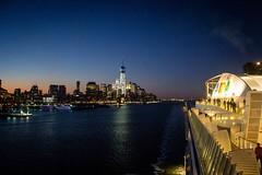 NYC Einlaufen (rueckenwind) Tags: city cruise sunset usa newyork manhattan aida canoneos60d