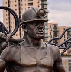 Cardiff bay bronze minor statue (technodean2000) Tags: statue bronze bay cardiff minor