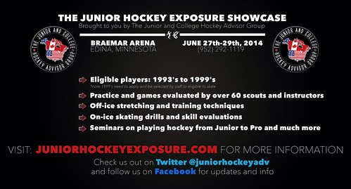 The junior and college hockey exposure showcase information