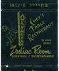 Zodiac Room (jericl cat) Tags: black illustration bar vintage paper logo restaurant hotel design losangeles neon graphic room lounge motel ephemera cocktail zodiac olympic matches googie matchbook rm olympian