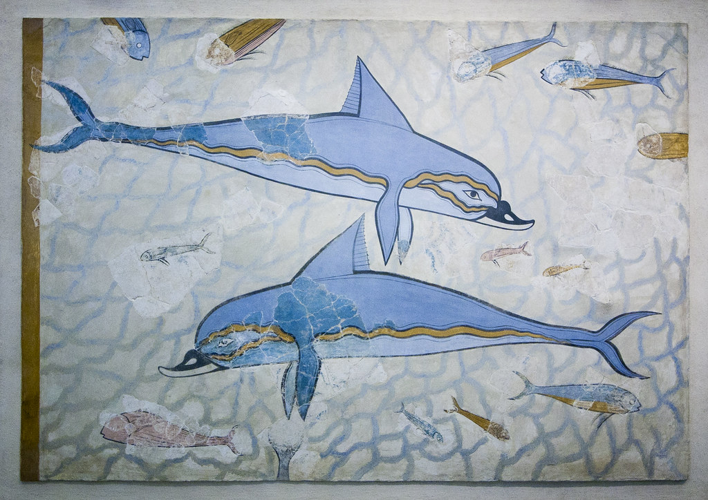 The world 39 s best photos of fresco and palaceofknossos for Dolphin mural knossos