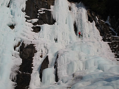Ice climbing in the sun (DmitMF) Tags: ice sport vermont risk outdoor extreme adventure climbing climber lakewilloughby renormalization