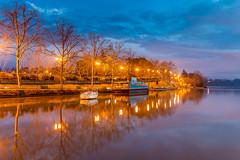 lumires d'heure bleue (TonioSkipper) Tags: port pont lumires calme erdre heurebleue sigma1835mmf18dchsmart vision:sunset=0557 vision:sky=0945 vision:outdoor=0981