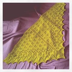 Yay for blocking! #knitting #ashtonshawlette #noochfiber (winksandgiggles {currently subduing chaos}) Tags: square squareformat 1977 iphoneography instagramapp uploaded:by=instagram