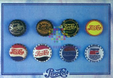 Pepsi evolución tapones