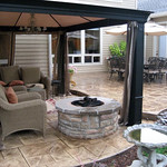 """Greenhaven Lanscapes Inc., lifescape, landscape, landscaping, patio, outdoor patio, bubbler, fountain, fire pit, fireplace, grass, lawn, fence, outdoor entertainment <a style=""""margin-left:10px; font-size:0.8em;"""" href=""""http://www.flickr.com/photos/117326093@N05/12491938374/"""" target=""""_blank"""">@flickr</a>"""