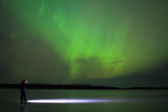 (Matt Scott (formerly iraceonpedals)) Tags: longexposure selfportrait alaska river frozen aurora february bethel auroraborealis 2014 kuskokwim