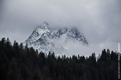 Garmisch Partenkirchen 4 (Dan Sothcott) Tags: trees mountain snow ski dan clouds germany evergreens surprise snowboard garmisch 2014 partenkirchen sothcott germanysnowboarding