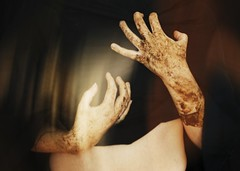 (Camille Artemis) Tags: woman color soft hand blurred poetic soil reflect soul intimate camilleartemis