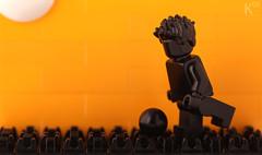 [Part Challenge] Football (Kosmas Santosa) Tags: silhouette afternoon lego soccer event challenge minifigure moc partchallenge keypart