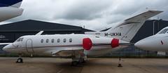 Hawker M-UKHA @ LTN 15/06/14 (aledy66) Tags: mukha 125 hawker eggw