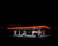 Shell, Liphook Services (Dan Parratt) Tags: mamiya film night mediumformat photography kodak garage shell gas gasstation uca iso 400 resolution petrol ruscha fuel farnham consumption petrolstation forecourt rz67 edruscha royaldutchshell mamiyarz67 finalmajorproject twentysixgasolinestations universityforthecreativearts 26gasstations 26gasolinestations twentysixgasstations