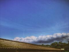 Crossing Contrails (SaigoDon) Tags: summer japan clouds contrail kagoshima   blueskies   cloudporn kyushu    isashi iphoneography  vscocam
