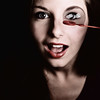 Mademoiselle (Christine Lebrasseur) Tags: red portrait people woman france art 6x6 canon bubble teenager fr onblack gironde 500x500 léane ltytr1 saintloubes allrightsreservedchristinelebrasseur