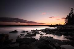 Acadia National Park 13 (gsamie) Tags: longexposure sunset usa water colors canon rocks waves maine explore scum atlanticocean barharbor eastcoast t3i acadianationalpark ndfilter 600d explored gsamie guillaumesamie