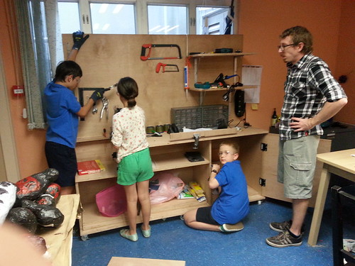 Workbench fabrication at Hong Kong Harbour school