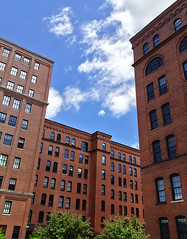 The Cork Factory Lofts (SteveMather) Tags: usa brick pittsburgh apartments factory pennsylvania pa converted walls stripdistrict repurposed 2014 remodeled dentilmolding rehabbed topazclean iphone4s thecorkfactorylofts